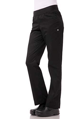 Chef Works Women's Lightweight Slim Chef Pants, Black, Medium