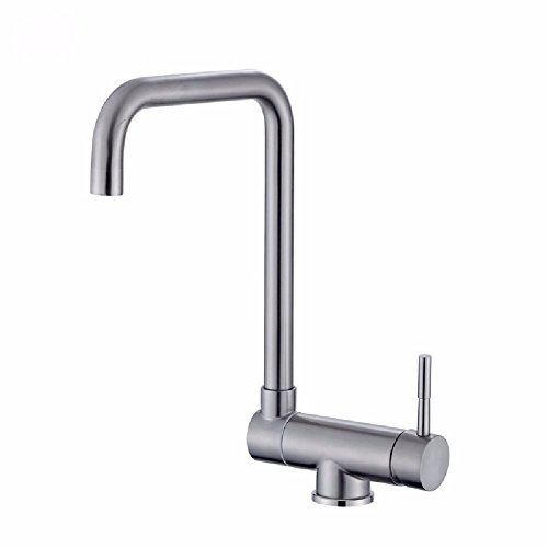 Best Prices! WAWZJ Kitchen Faucet Stainless Steel Kitchen Faucet Chill Faucet Revolving Wash Basin W...