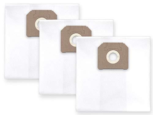 3x Vlies Staubbeutel Filtersack für FEINSTAUB/BAUSTAUB 6-lagig für Flex S 44 L AC; VCE 44 (L AC; L AC Kit; M AC; M AC Kit; M AC Air; H AC)