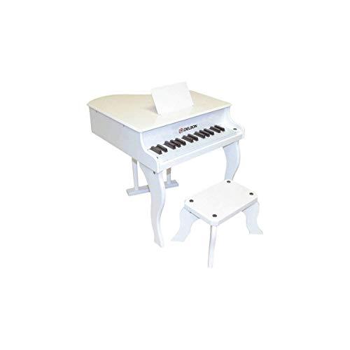 Delson 3005W - Piano de cola para niños, color blanco