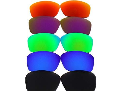Galaxylense Lentes de reemplazo para Oakley Hijinx para hombre Negroblue y Verde y Púrpura y Rojo