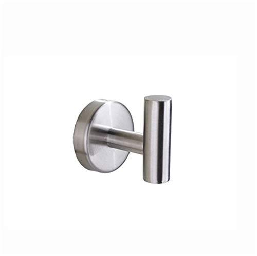 gancho adhesivo,Juego de baño gancho para abrigo de acero inoxidable 304, soporte para rollo de baño, gancho para toallero individual, plateado (2 piezas)