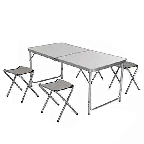 Tisch- und Stuhlset im Freien Outdoor wasserdichte Ultra-leichte Klapptische und -stühle, Camping Aluminiumlegierung langlebige Picknicktische und Stühle, Outdoor-tragbare Schreibtische im Freien