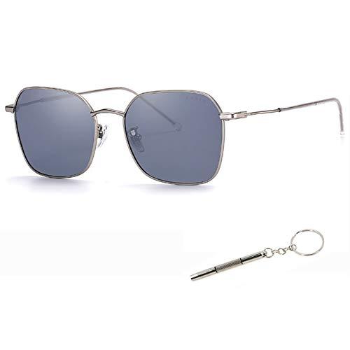 Gafas de sol polarizadas para hombres y mujeres gris acabado azul 73424 N1