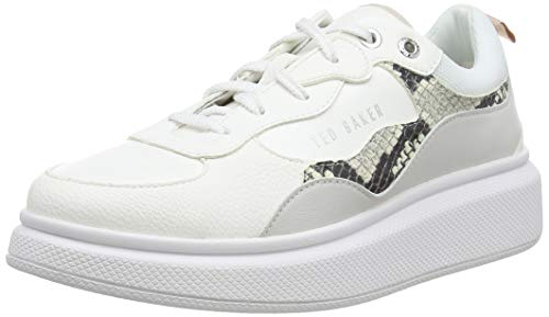 Ted Baker Damen Arellis Sneaker, Weiß (White White), 41 EU