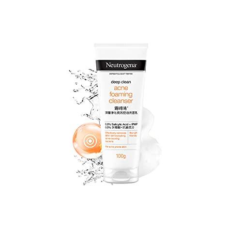 Neutrogena Deep Clean Nettoyant moussant anti-acné, contrôle de l'huile, sans brillance 100 g