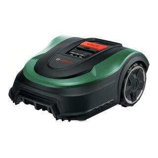 Bosch Lawn and Garden Indego M+ 700 Robot cortacésped, con batería sustituible de 18V y función de aplicación, Base de Carga incluida, Ancho de Corte de 19cm