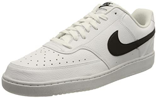 Nike Court Vision Low Better, Zapatillas de bsquetbol Hombre, Blanco/Negro, 47.5 EU