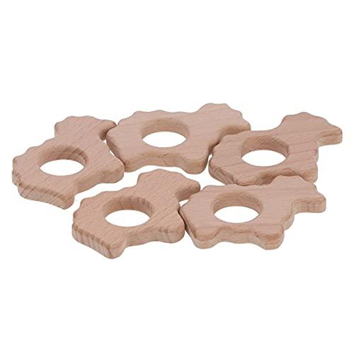 Colgante de bricolaje, mordedor seguro para bebés, superficie lisa, 5 piezas para pulseras