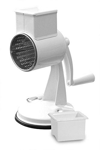 Nuss- und Mandelreibe - Kunststoff - mit Vakuumsaugfuß - 23,5 cm hoch - garantierte Qualität
