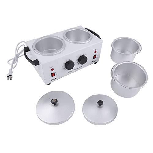 SeniorMar Double Pot Chauffe-Cire Électrique Épilation Outil Cire Machine Mains Pieds Paraffine Cire Thérapie Dépilatoire Salon Beauté Outil