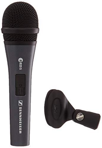 Sennheiser E825S Microfono Professionale Dinamico Cardioide ideale per voce, strumenti ed amplificazione nei club, Completo d'interruttore on/off, Nero