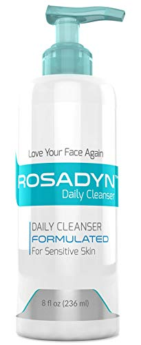 Cleanser for Sensitive Skin and Rosacea Care by Rosadyn - Gentle Non-Drying Organic Facial Wash - Soothing and Won't Irritate Skin 8oz