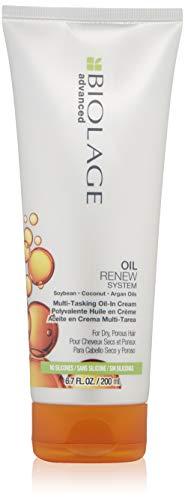 BIOLAGE Advanced Oil Renew Multi-Tasking-Oil-In-Cream | Increased Nourishment Fights Frizz & Enhances Manageability | For Dry Hair | 6.8 Fl. Oz.
