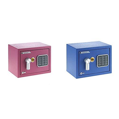 Yale YSV/170/DB1/P Caja de Seguridad a Mobile, Rosa, XS + Caja de seguridad para muebles, azul, XS