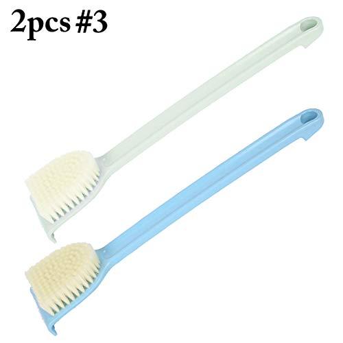 COOFIT douchegel Ergonomische lange handvat bad borstel terug Scrubber voor scrubben