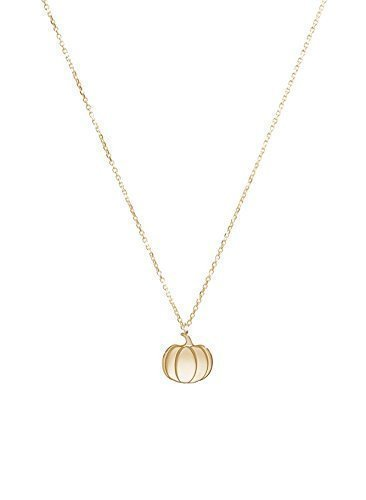 Tiny Gold Pumpkin Charm, 9K 14K 18K Solid Gold Necklace, Yellow Gold, Halloween Pendant, Unique Gift For Her/code: 0.002