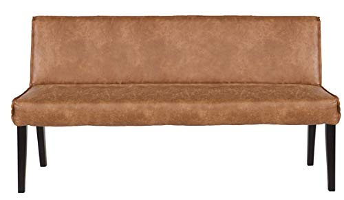 PEGANE Banc Coloris Cognac, H 830 x L 1560 x P 610 cm