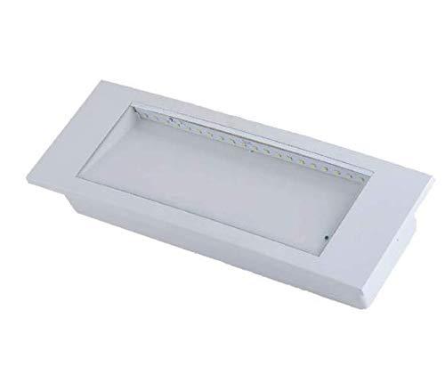 vidoelettronica Lampadina d'emergenza LED Professionale Garanzia 3 anni 3,8W Autonomia Superiore alle 4 ore 130 lumen Luce Bianco Freddo 6000K - Fascio Luminoso diffuso