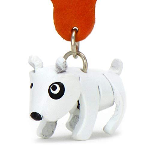 Monkimau Schlüsselanhänger Bullterrier Hund aus Leder
