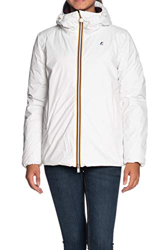 K-Way Marguerite Thermo Plus Double Giacca Donna 968 White S-Red D, 5 XL