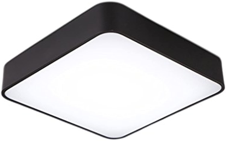 Deckenleuchte LQ Nordic Einfachheit Creativity LED Geometrische Schlafzimmer Kombination Lampen Persnlichkeit Mode Balkon Gang Eingang Tür Beleuchtung (Farbe   schwarz)
