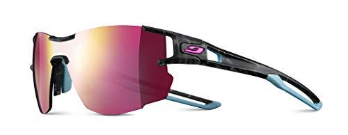 Julbo Aerolite Women's Sunglasses, Grey Scale/Blue, FR: M (Manufacturer's Size: M).