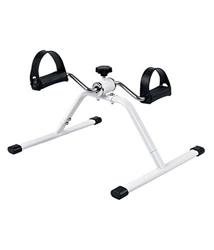 SG Pedal Exercise Mini Bike,Cycle Aid with Adjustable Resistance Ab Care King Toner (White)