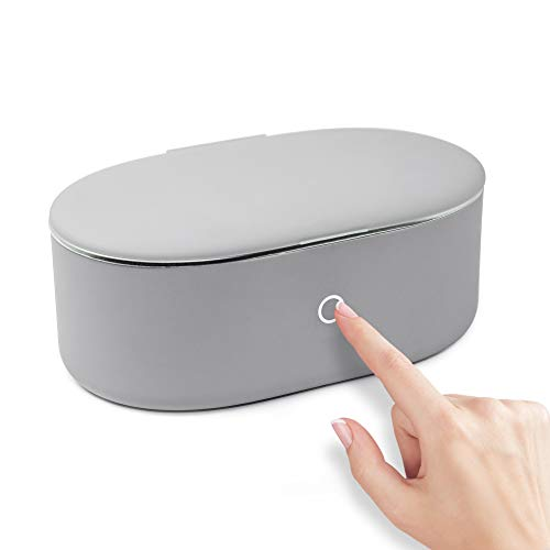 2021 Ultrasonic Jewelry Cleaner Portable and Low Noise Ultrasonic Machine for Jewelry, Ring, Silver, Retainer, Eyeglass, Watches, Coins, 500ML, 45KHz Ultrasound Cleaner Machine by VCUTECH (Grey)
