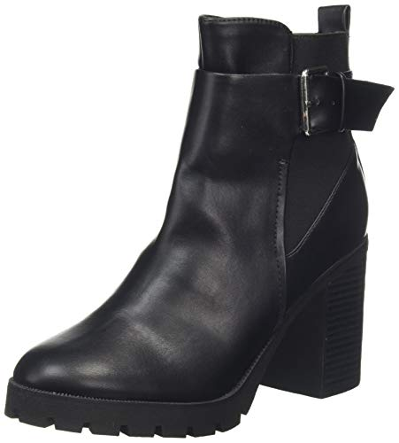Dorothy Perkins Ally Leather Look Cleated Ankle Boot, Bottes Classiques Femme, Noir (Black 010), 38 EU