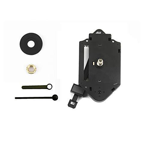 Clock-it Meccanismo Pendolo di qualità H canotto 16mm con lancette plastica Nere - Kit per Riparazione, Sostituzione o Realizzazione Orologi Pendolo da Parete. Azienda Italiana specializzata.