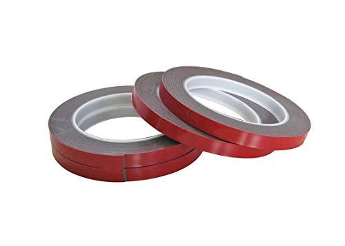 VHB Klebeband 5mm x 3m Doppelseitiges Extra Stark Montageband Foam Tape Grau (1,83 Euro/m)