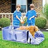 Portable Foldable Pet Bath Folding Grooming Bathtub Step In Out Design