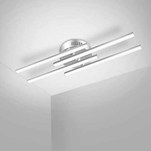 Kingwen 24W Lampada da Soffitto LED, 2600lm 5500K dal Design ondulé Plafoniera a LED,Plafoniera LED Soffitto Moderni per Salotto, Cucina o Camera da Letto ecc.