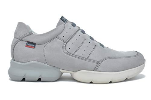Callaghan 17701 Zapato Deportivo Hombre, Piel, Suela adaptación (44 EU, Gris)