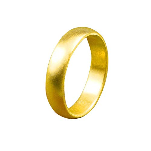 [アトラス]Atrus リング メンズ エンゲージリング 純金 24金 ホーニング加工 つや消し 地金リング 21-25号 ストレート 幅広 指輪 25号