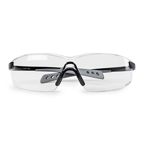 SolidWork SW8322 - Gafas de seguridad con protección lateral integrada, lentes transparentes, antivaho y con revestimiento de protección UV 🔥
