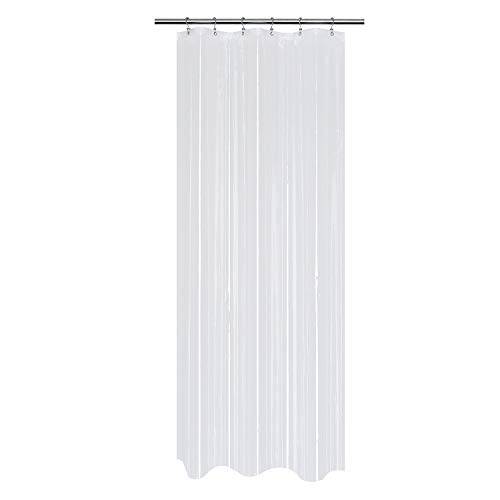 Mrs Awesome Small Narrow Stall Shower Curtain or Liner 32 x 72 inch, PEVA 8G, Clear, Water Proof and Mildew Resistant