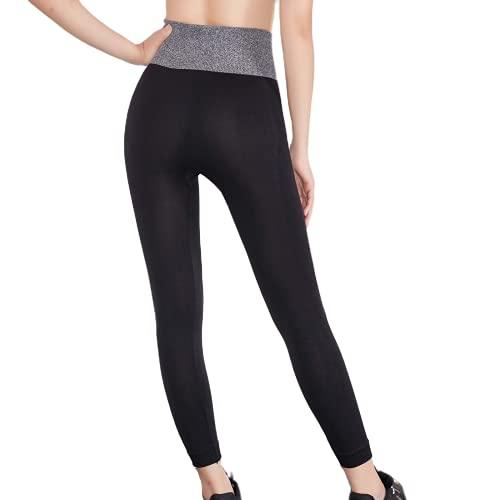 QTJY Entrenamiento de Moda para Mujer Medias para Celulitis Gimnasio Flexiones Pantalones de Yoga absorbentes de Sudor Pantalones de Cintura Alta Caderas Pantalones de chándal Delgados A S