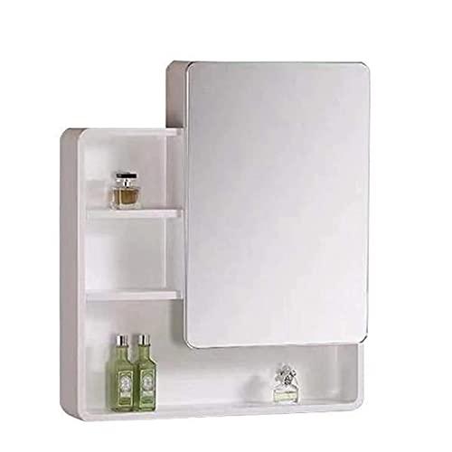 DJDLLZY Badrumskåp Multipurpose Medicinskåp Kökskåp med enstaka dörrar och spegel, badrums väggspegelskåp (Size : 70cm)