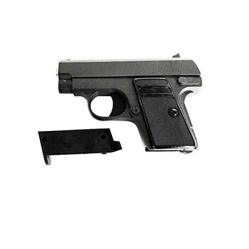 Rayline Softair Pistole G1 Voll Metall Pocket, Maßstab 1:1 schwarz 6mm Kaliber Zink-Metall