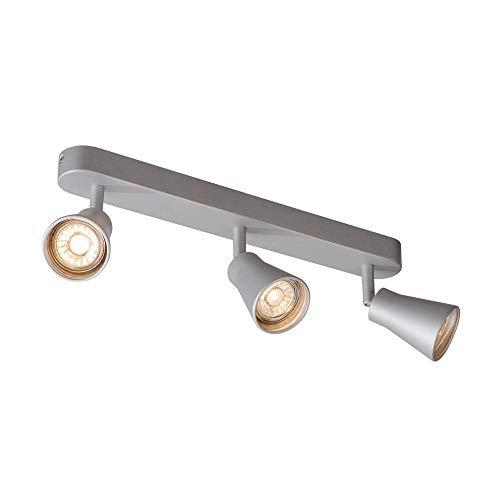 SLV AVO CW Triple, Indoor Wand- und Deckenaufbauleuchte, QPAR51, silber, max. 50W Leuchte Metall 0 W, grau