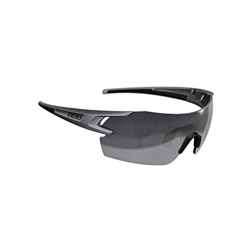 BBB Cycling Fahrradsonnenbrillen, Fullview Sportbrillen Mit Wechselgläsern, BSG-53, Matt Metallic