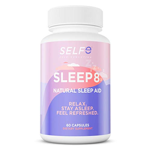 natural sleeps Sleep 8 Natural Sleep Aid Supplement - Relax, Stay Asleep & Feel Refreshed - 60 Capsules