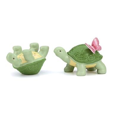 Lenox Butterfly Meadow Figural Turtle Salt and Pepper Set