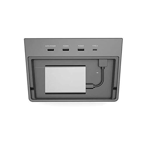 Conector de almohadilla de carga Multi USB Hub 5 puertos SSD Disco Interior del coche Consola central Kit de accesorios para Tesla Modelo 3 Tipo-C