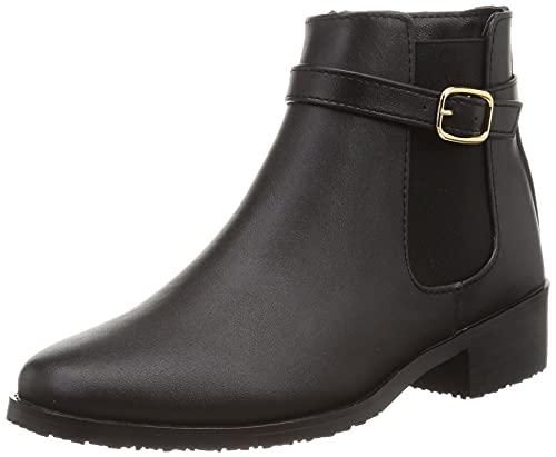 [オリエンタルトラフィック] レインシューズ レイン 晴雨兼用 ブーツ 滑りにくい レディース 大きいサイズ 小さいサイズ 歩きやすい サイドゴア ファスナー BLACK 23.0 cm~23.5 cm