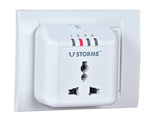STORME Plastic Timer Socket Automatic Power Cut-Off Smart Plug (White)