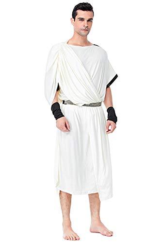 Herren Mittelalter Das alte Araber Rom Paar tragen Griechische Göttin Cosplay Kostüm XL