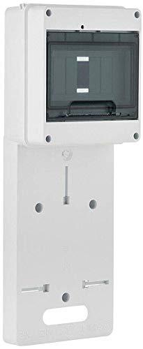 Zählertafel Zählerbrett für Drehstrom Wechselstrom 1-9 Module N+PE mit Transparentem Deckel, DIN-Hutschiene (3F (N+PE))